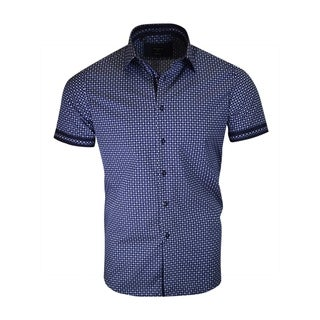 White Circles on Navy Background Short Sleeve Shirt (5 options available)