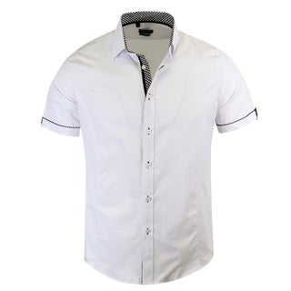 Rosso Milano Jacquared Modern-Fit Short-Sleeve shirt
