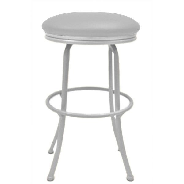Peyton Ocean Beige 26inch White Frame Swivel Bar Stool 26inches