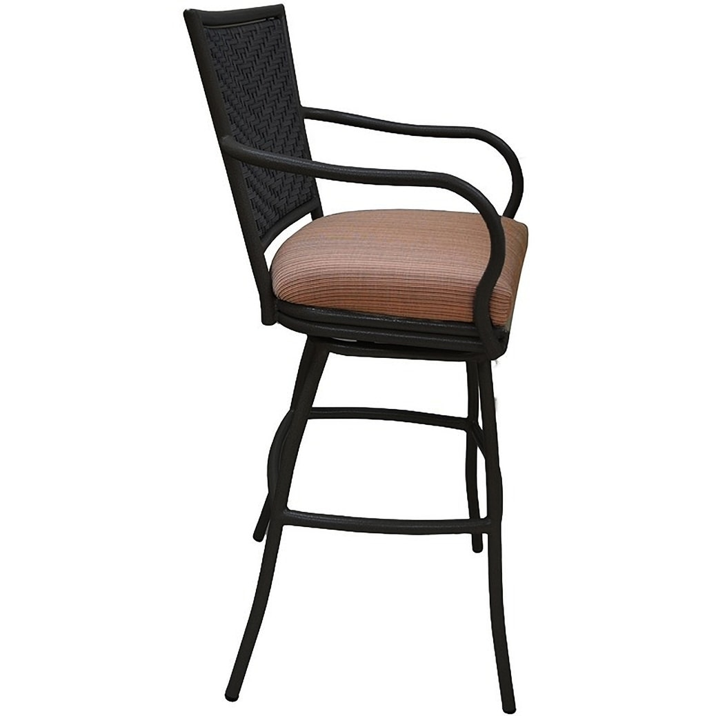 Image of: Shop Patio Outdoor Extra Tall Spectator Bar Stool 35 Erin Terracotta Black Overstock 21010419