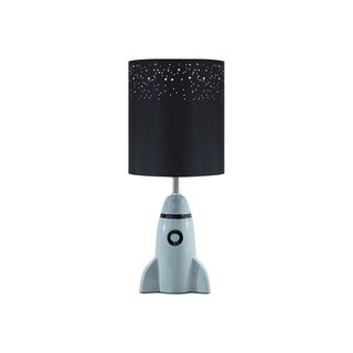 Signature Design by Ashley Cale Gray and Black Rocket Kid's Table Lamp