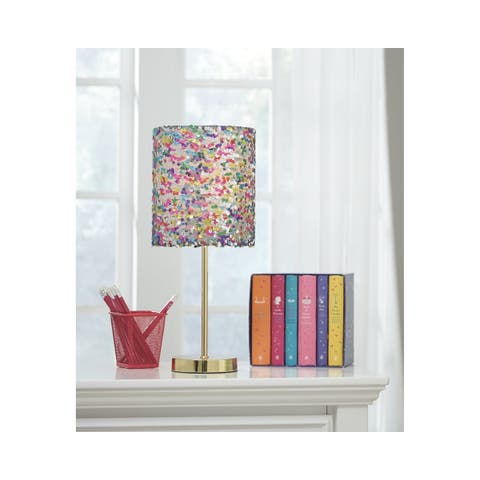 Signature Design by Ashley Maddy Multicolored Sequin Kid's Table Lamp