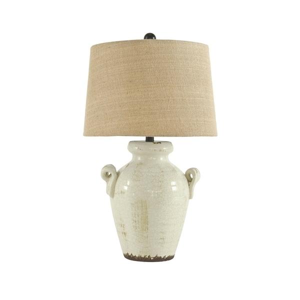 Emelda Cream 27 Inch Table Lamp. Opens flyout.