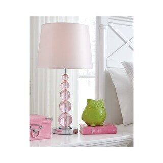 Signature Design by Ashley Letty Pink Crystal Kid's Lamp