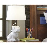 Signature Design by Ashley Avel White Pug Kid's Table Lamp