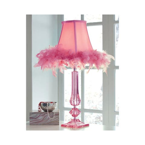 Signature Design by Ashley Auren Pink Feather Kid's Lamp