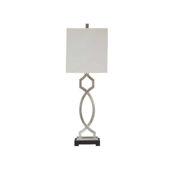 Signature Design by Ashley Taggert Silver Leaf Table Lamp