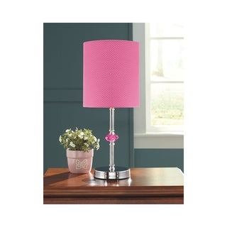 Signature Design by Ashley Sommerville Pink and Silver Kid's Table Lamp