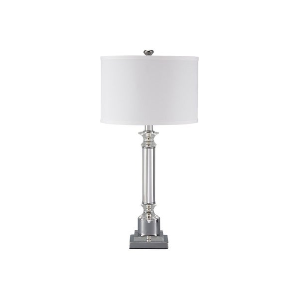 Signature Design by Ashley Marlon Clear and Silver Table Lamp