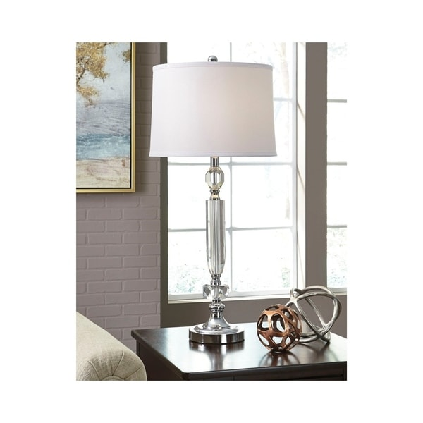 Tajo Clear and Silver 32 Inch Table Lamp