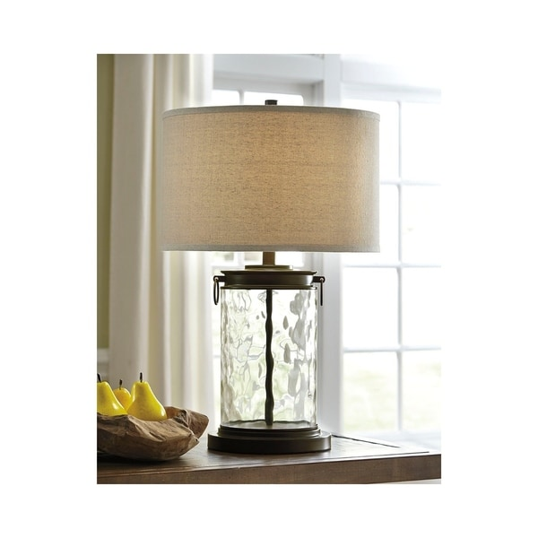 Signature Design by Ashley Tailynn Clear and Bronze Table Lamp