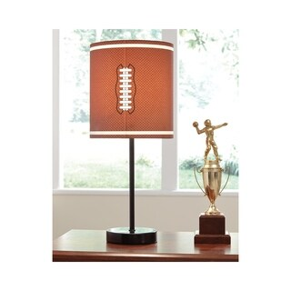 Signature Design by Ashley Lamar Brown and Orange Football Kid's Table Lamp