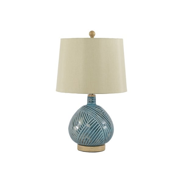 Signature Design by Ashley Jenaro Teal Table Lamp