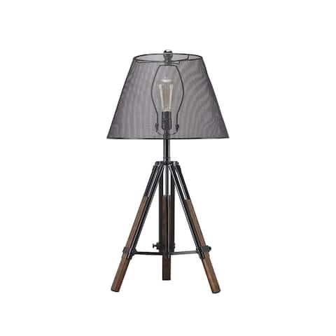 Leolyn Black 37 Inch Table Lamp with Wire Mesh Shade