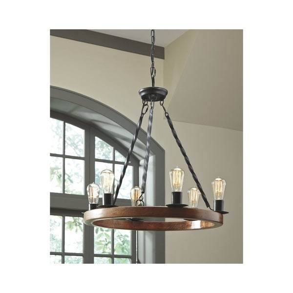 Signature Design by Ashley Plato Brown and Black Pendant Light