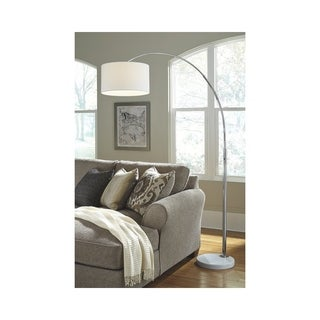 Signature Design by Ashley Areclia Chrome Finish Arc Floor Lamp