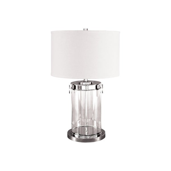 Tailynn Clear and Silver 27 Inch Table Lamp