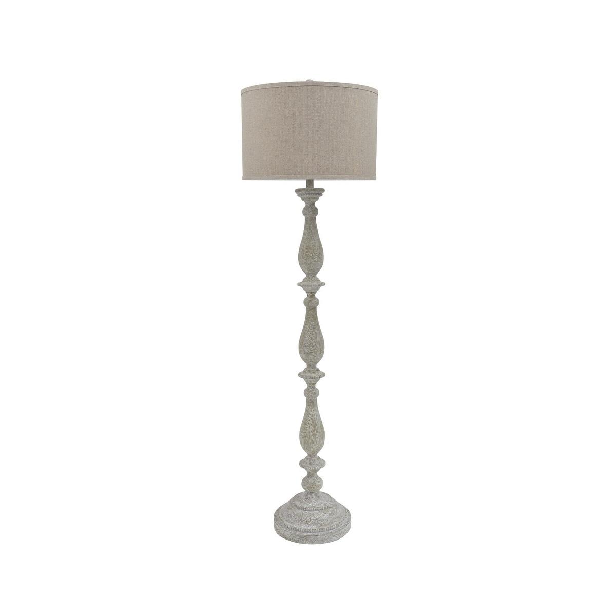Bernadate Whitewash 62 Inch Floor Lamp On Sale Overstock 21011315