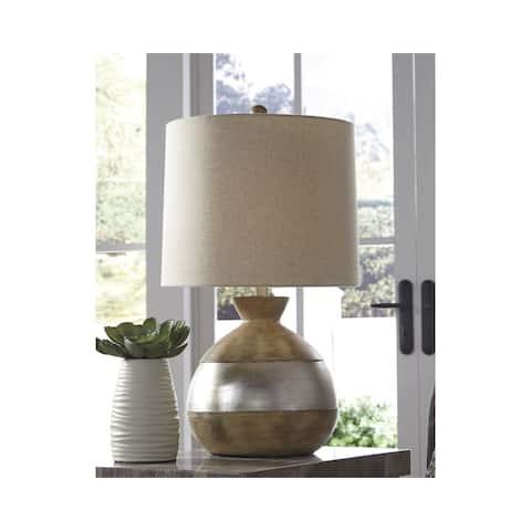 Mandla Brown/Silver 25 Inch Table Lamp