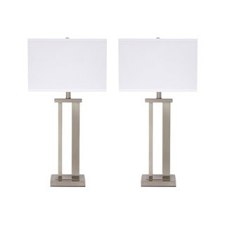 Signature Design by Ashley Aniela Silver Finish Table Lamps Set of 2