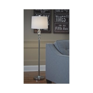 Signature Design by Ashley Joaquin Clear and Chrome Finish Floor Lamp