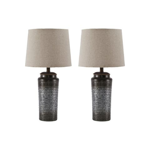 Norbert Gray 25 Inch Table Lamps - Set of 2