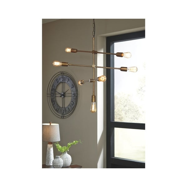 Nastalya Gold Finish 26 Inch Wide Pendant Light