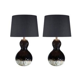 Signature Design by Ashley Arma Black and Copper Finish Table Lamps Set of 2