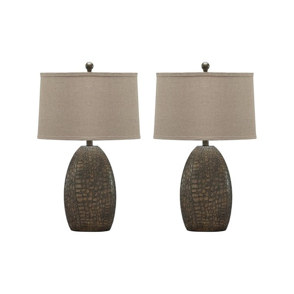 Melvin Tan 27 Inch Table Lamps Set of 2
