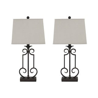 Signature Design by Ashley Ainslie Bronze Table Lamps Set of 2