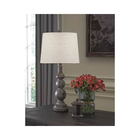 Mair Antique Black 29 Inch Table Lamps Set of 2