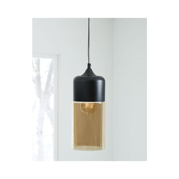 Williamina Champagne and Black 5 Inch Wide Pendant Light