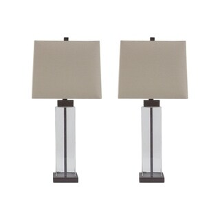 Alvaro Clear and Bronze Finish 29 Inch Table Lamps Set of 2