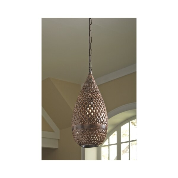 Jonelle Antique Brown 10 Inch Wide Pendant Light
