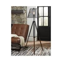 Leolyn Black and Brown 58 Inch Floor Lamp