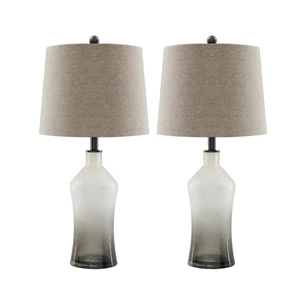 Gray Table Lamps Classy Shop Nollie Gray 60 Inch Table Lamps Set Of 60 Free Shipping Today