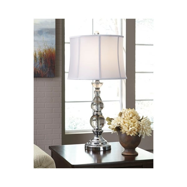 Marcelo Clear and Silver 31 Inch Table Lamp
