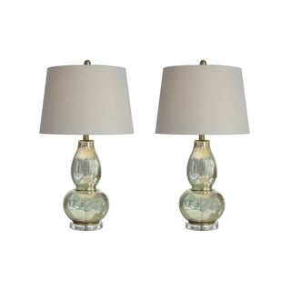 Signature Design by Ashley Laraine Gold Finish Table Lamps Set of 2
