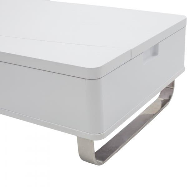 Shop Mix White Lacquer High Gloss Lift Top Hidden Storage Coffee