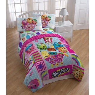 Disney Shopkins Patchwork Reversible Oversized Twin Comforter