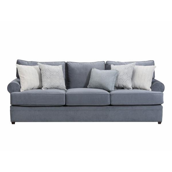 Shop Simmons Upholstery Abington Light Blue Sofa Free