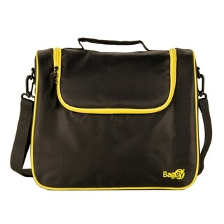Baggy Fit Insulated Lunch Bag (Black/Yellow)