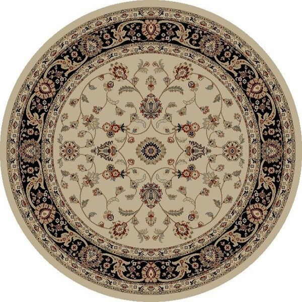 "Concord Global Jewel Marisa Ivory Round Rug - 5'3"" x 5'3"""