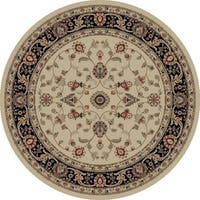 "Concord Global Jewel Marisa Ivory Round Rug - 5'3"" x 5'3"""