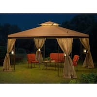 Sunjoy 12 x 10 Parlay Gazebo with Netting
