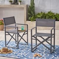 Monte Vista Outdoor Mesh Aluminum Director Chair (Set of 2) by Christopher Knight Home