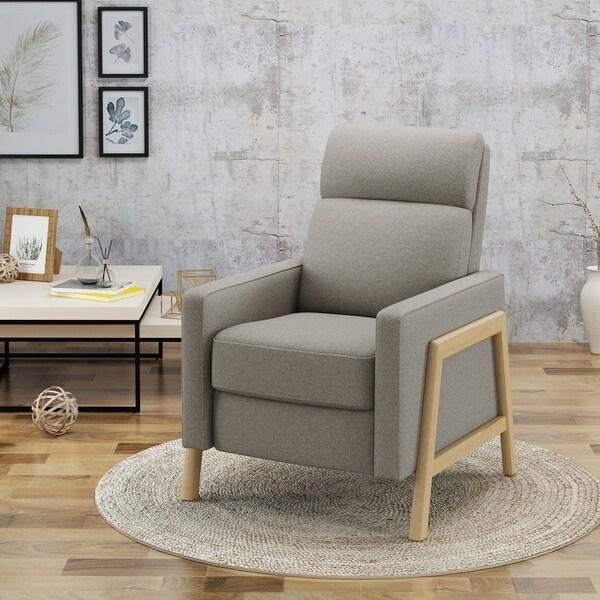 Shop Hadrian Mid Century Modern Fabric Recliner Club Chair By