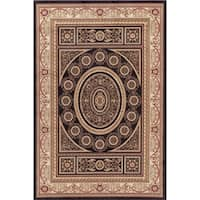 Concord Global Jewel Creuse Black Area Rug - 6'7 x 9'1