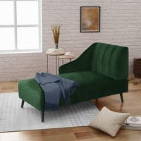 Auley Glam Velvet Accent Chaise Lounge by Christopher Knight Home