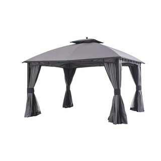 Sunjoy 12 x 10 Mirage Gazebo grey / black edge